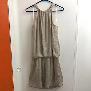 Promod drop waist open shoulder dress, nude beige